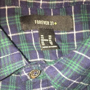 Forever 21+ crop-top flannel